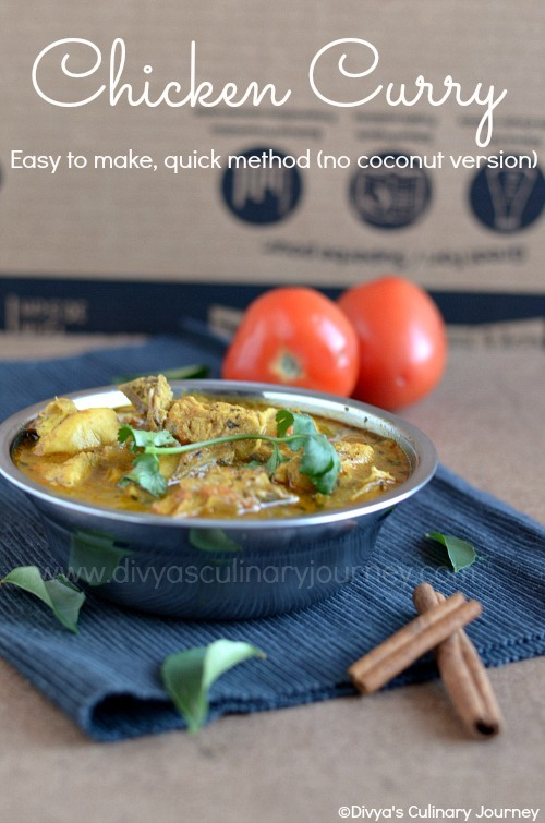 Chicken Curry Recipe (No coconut Version) | Easy & Quick Chicken Curry | South Indian Chicken Recipes