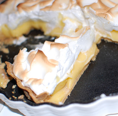 Citrontærte med marengs - Lemon meringue pie (Glutenfri)
