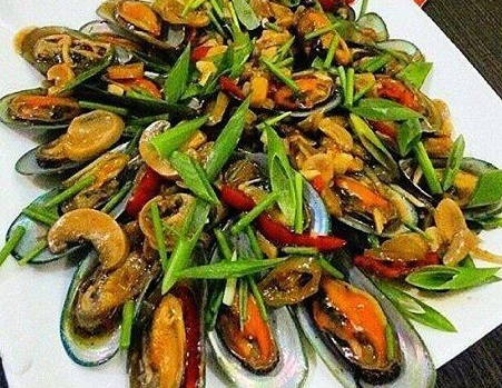 Mussels with Mushroom in Oyster Sauce Recipe