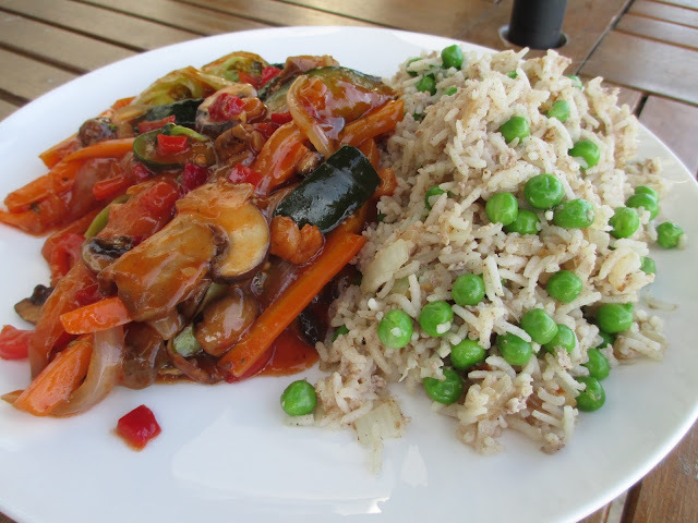 Sweet and Sour Veggies with Egg Fried Rice