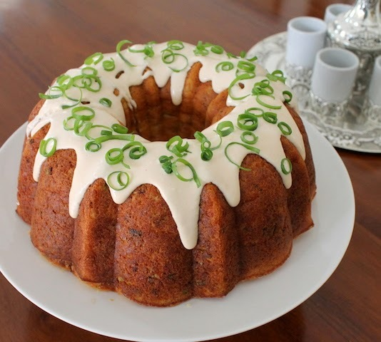 Cheesy Breakfast Sausage Bundt #BundtBakers
