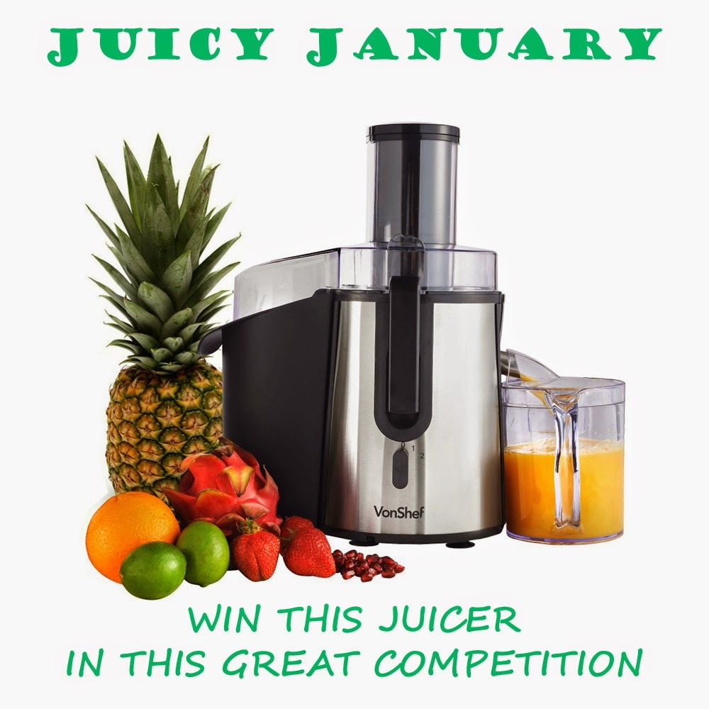 Win a fabulous whole fruit juicer from Domu - Start the new year the right way !