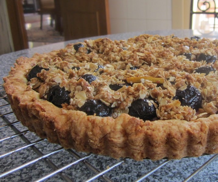 Cherry Apple Crumble Tart #FoodieExtravaganza