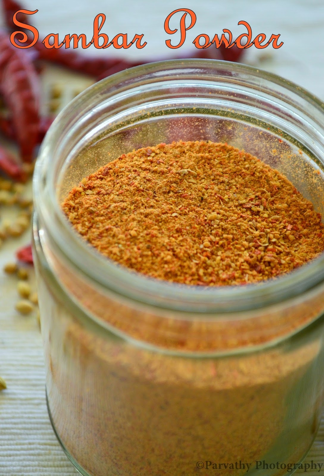Sambar Powder Recipe | How to make Sambar Powder | Home-Made Sambar Powder Recipe