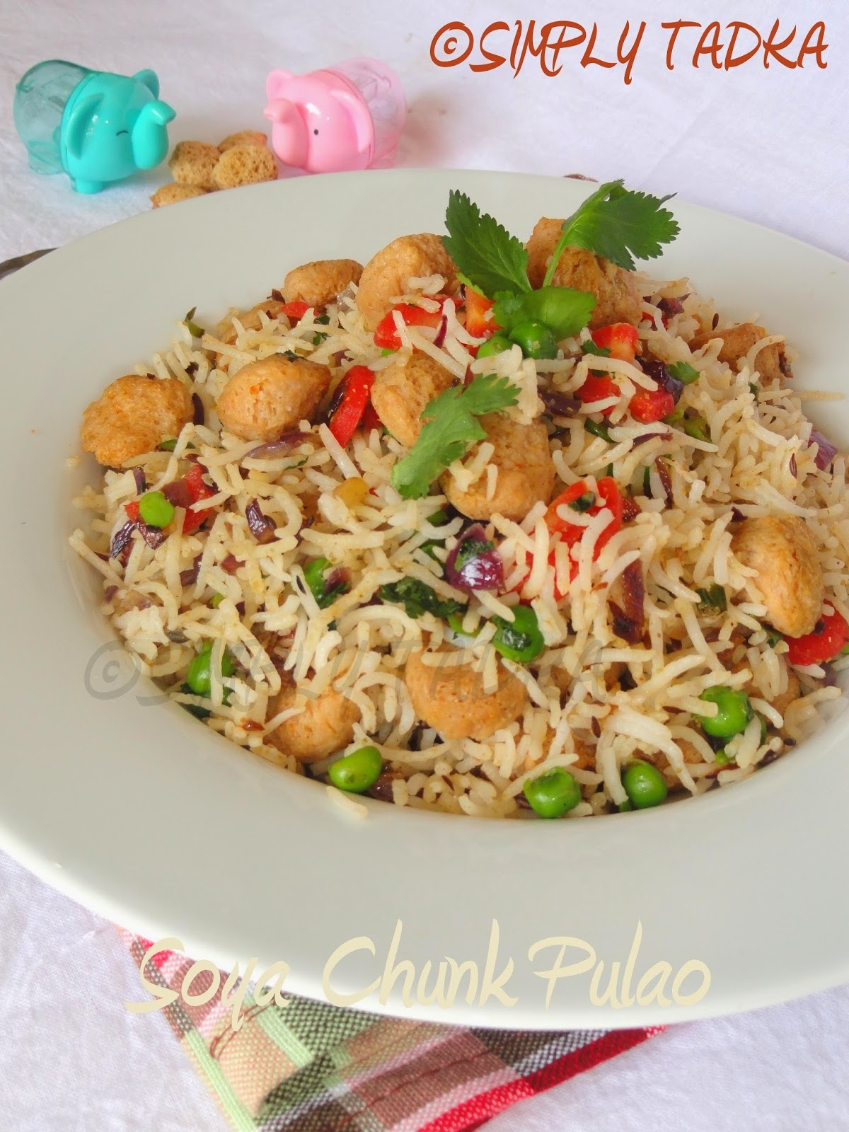 Soya Chunk Pulao| Rice Recipes