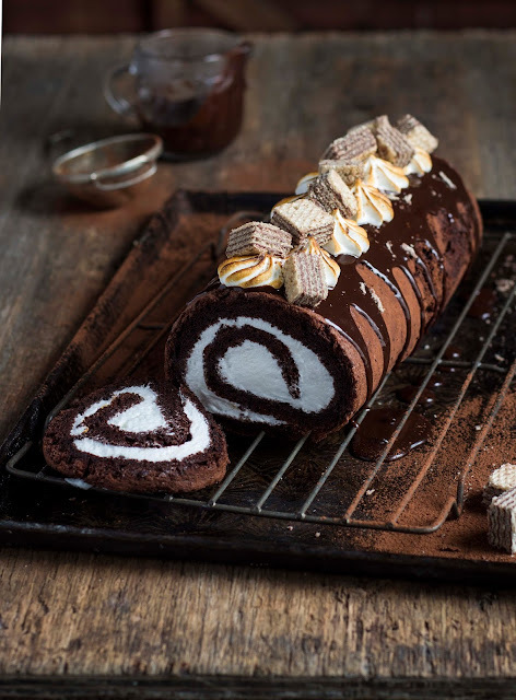 Chocolate Marshmallow Log