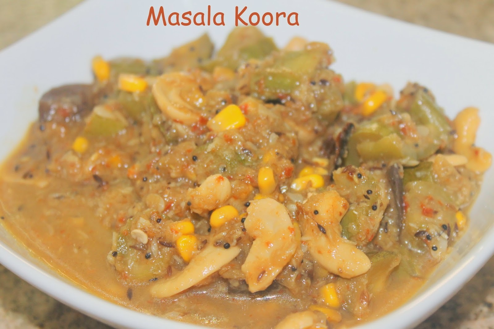 Masala Koora/Masala Curry/Mixed veg Curry