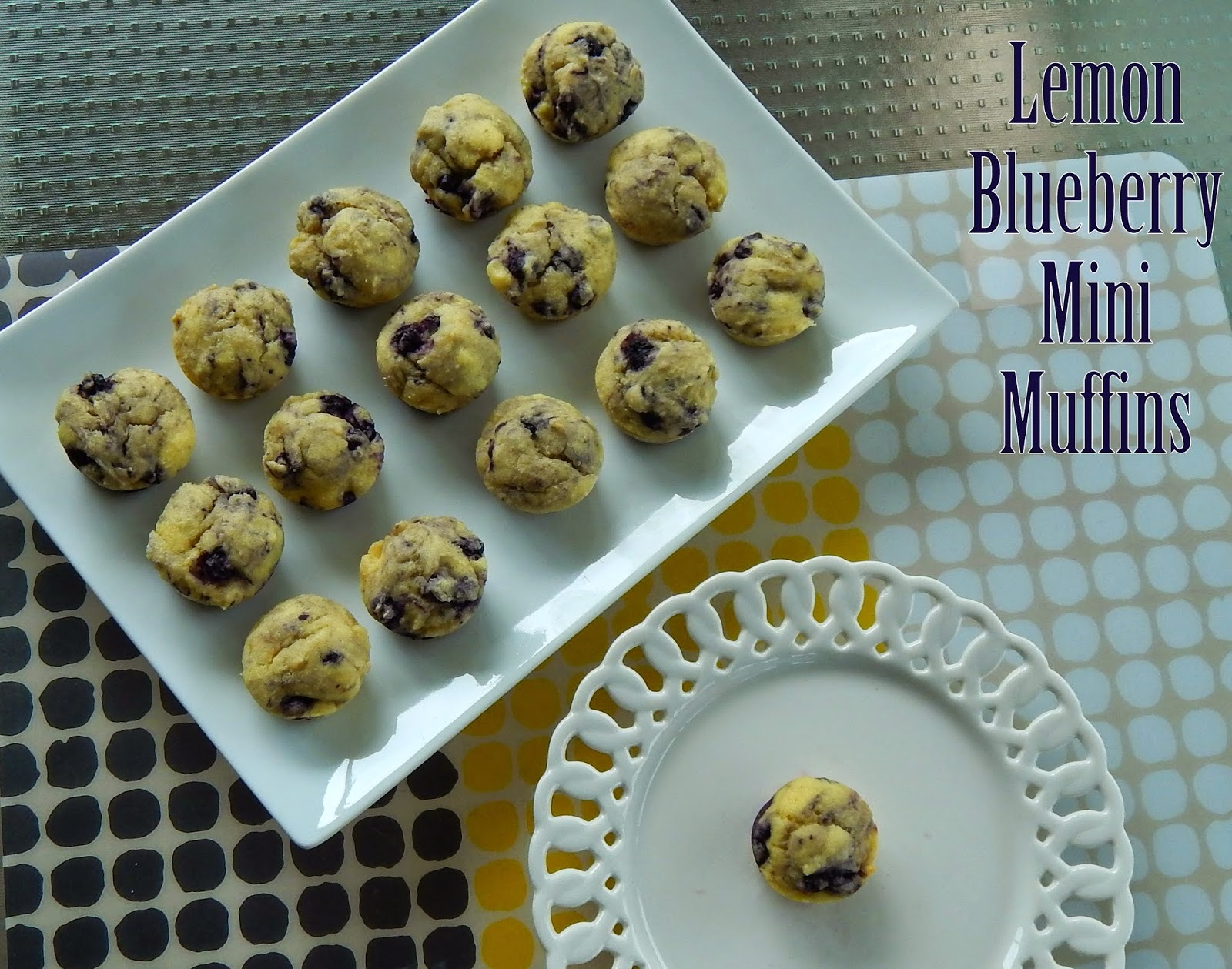 Lemon Blueberry Mini Muffins