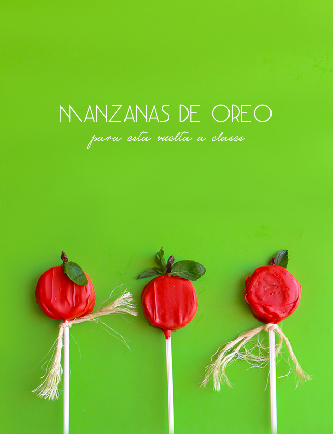 Oreo Cookie Pops de Manzana