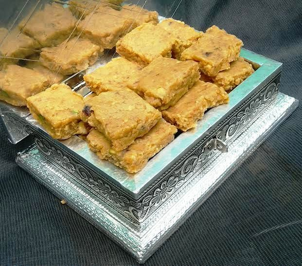 Besan and Milk Burfi