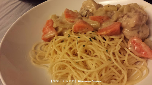 卡邦尼蘑菇汁燴雞髀 Braised Chicken Drumstick with Carbonara Mushroom Sauce (附食譜)