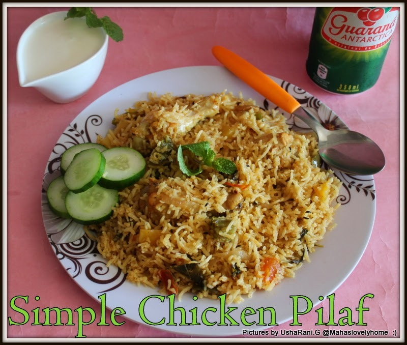 Quick and easy Chicken Pulao With Step by Step Pictures | Simple Indian Chicken Pulav with Mixed Vegetables | South indian Spicy Chicken Pilaf Recipe | How to make best Chicken Pulao