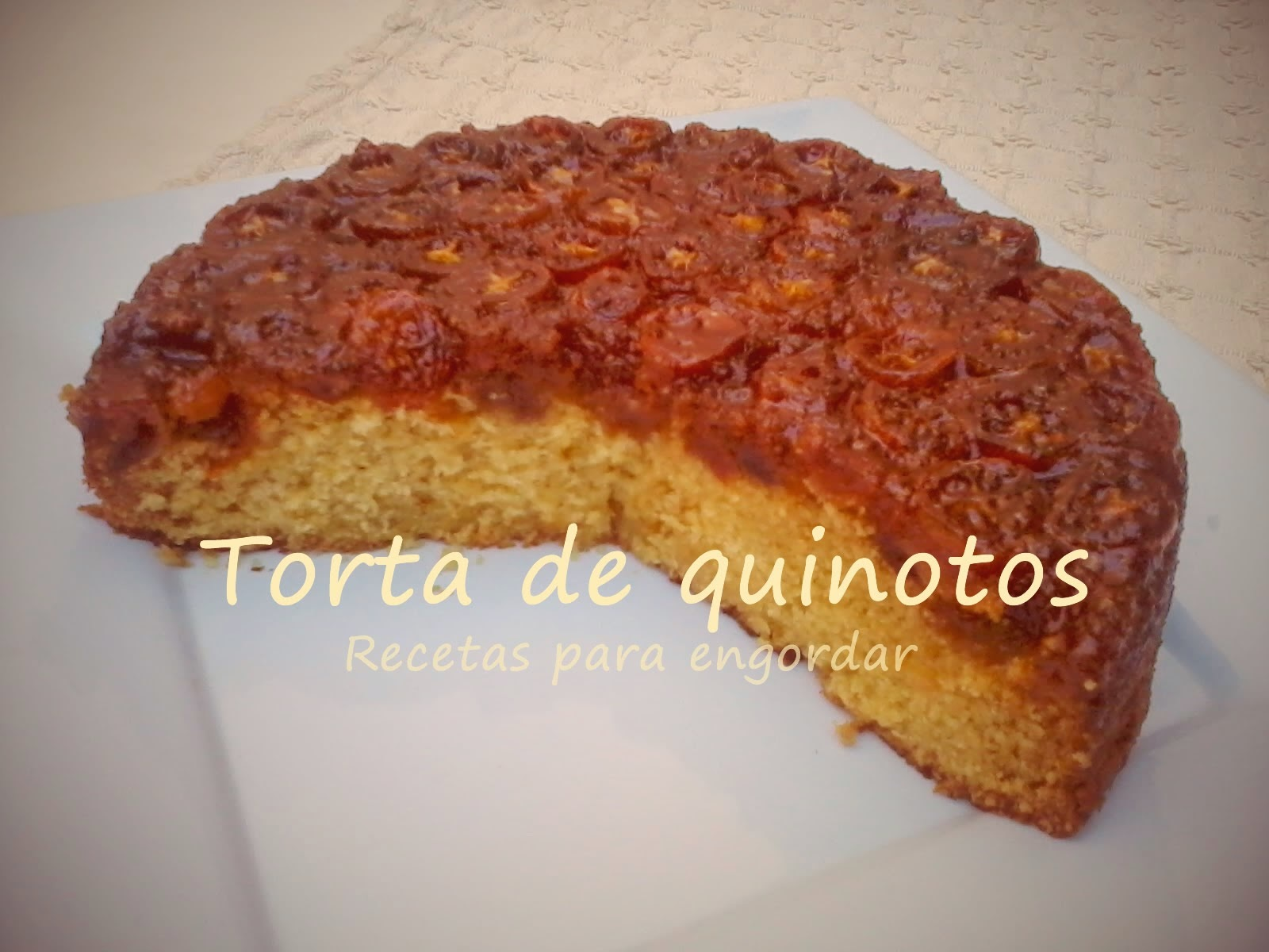 Torta invertida de quinotos
