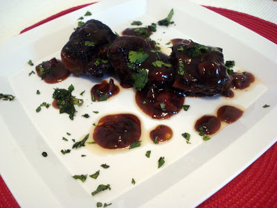 Short Ribs with Chipotle Cherries
