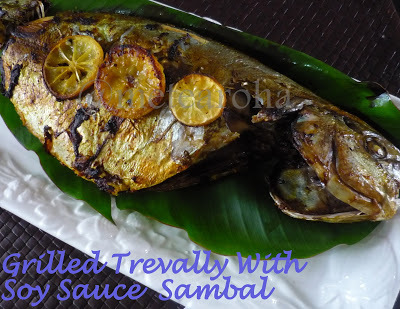 Grilled Trevally With Soy Sauce Sambal