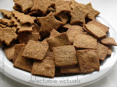 Whole Wheat and Sesame Seed Baked Crackers
