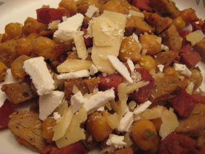 Fried Chorizo and Chickpeas