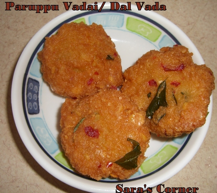 Happy Pongal and Paruppu Vadai/Dal Vada Recipe!!!
