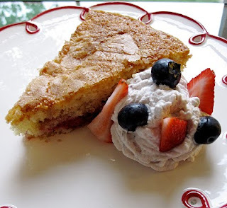 Strawberry Buttermilk Cake with Lemon-Blueberry Whipped Cream