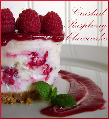 Crushed Raspberry Cheesecake