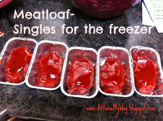 Freezer Food - Meatloaf Singles & Other Food Gifts For New Parents