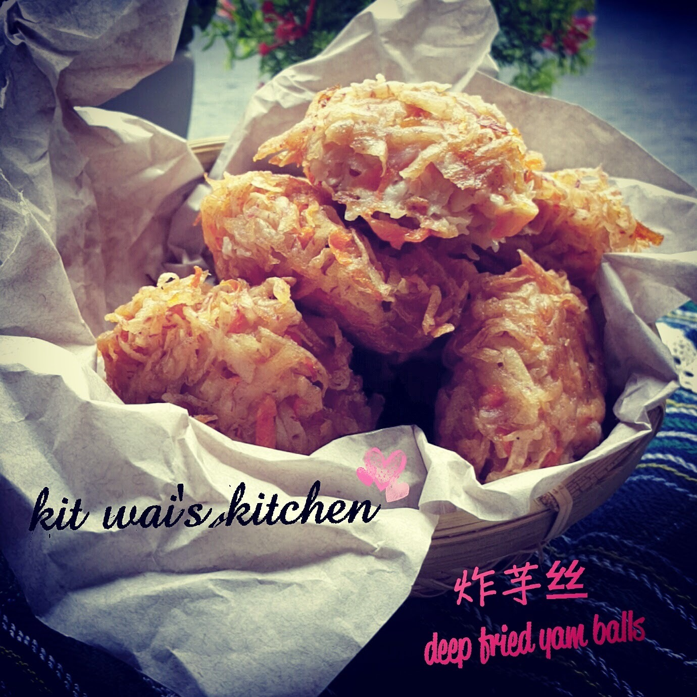 炸芋丝 ~ Deep Fried Yam Balls