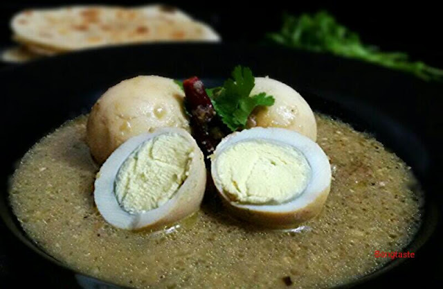 EGG REZALA (EGG COOKED IN CASHEW NUT AND YOGURT GRAVY)