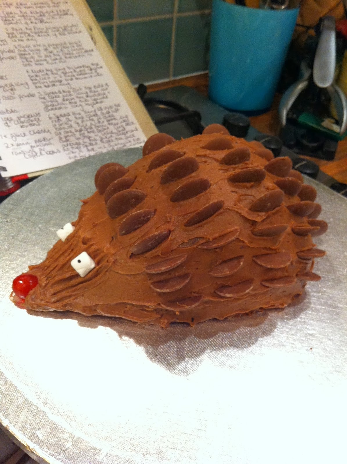 Cadbury's Headgehog Cake