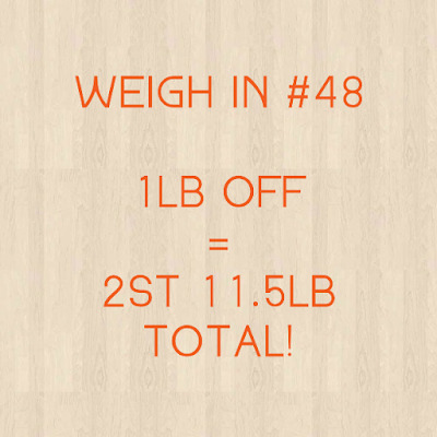 Slimming World weigh in #48 - the one with a loss again...and a non scale victory!