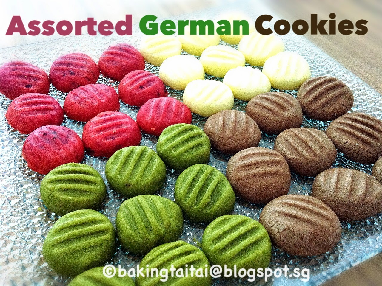 German Melt-In-The-Mouth Butter Cookies 德国酥饼  (中英食谱教程)