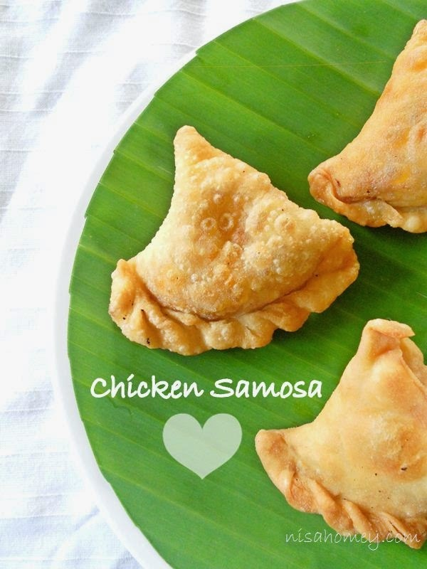 Chicken Samosa Recipe, Malabar Chicken Samosa (Kerala Style)