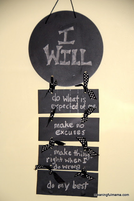 "Day #170 Responsibility ""I Will"" Statements"