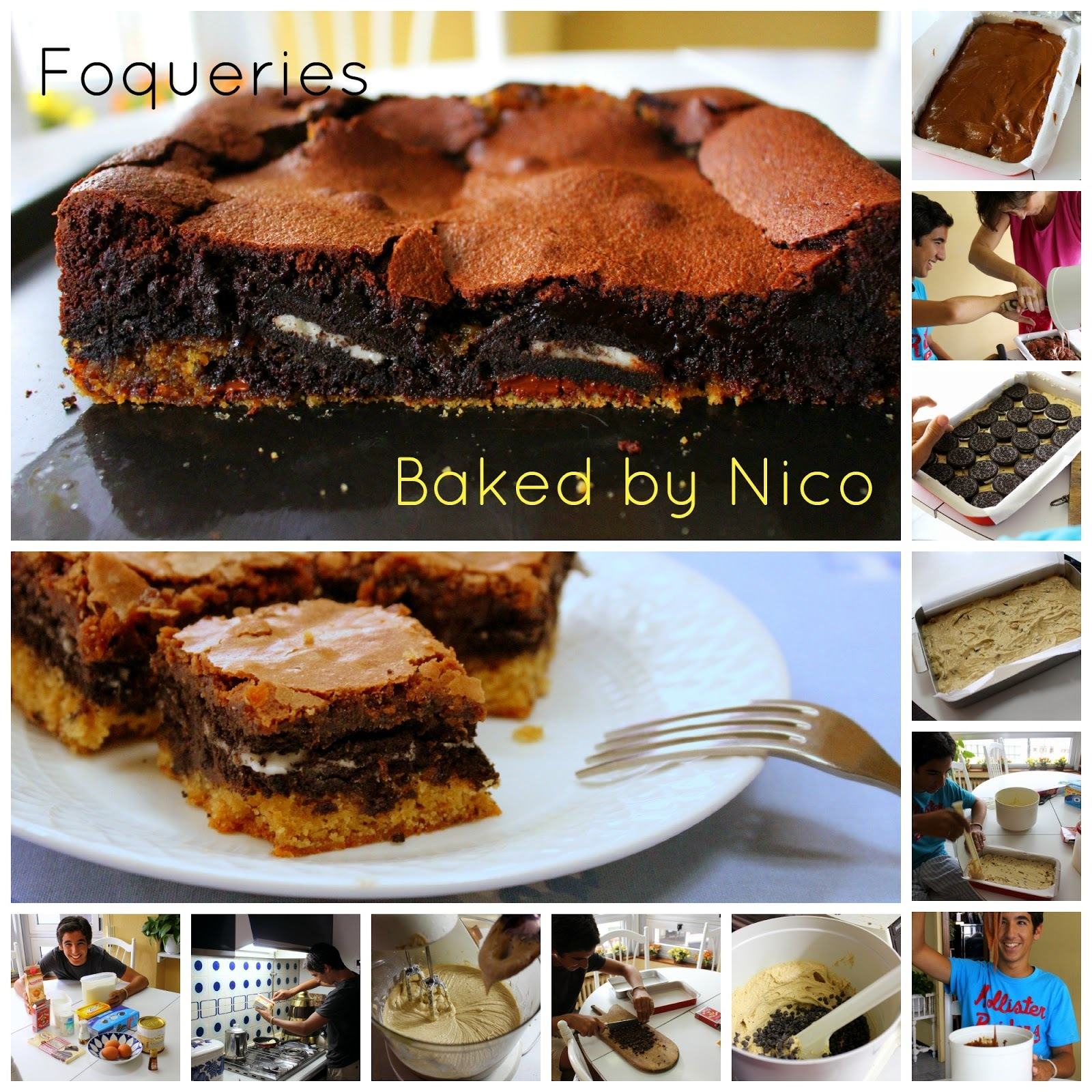 Foqueries baked by Nico (Tres capas: Brownies, galletas Oreo y masa de cookies con trocitos de chocolate)