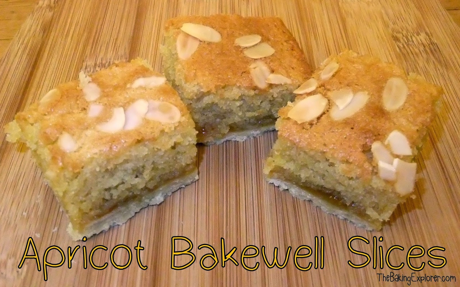 Apricot Bakewell Slices