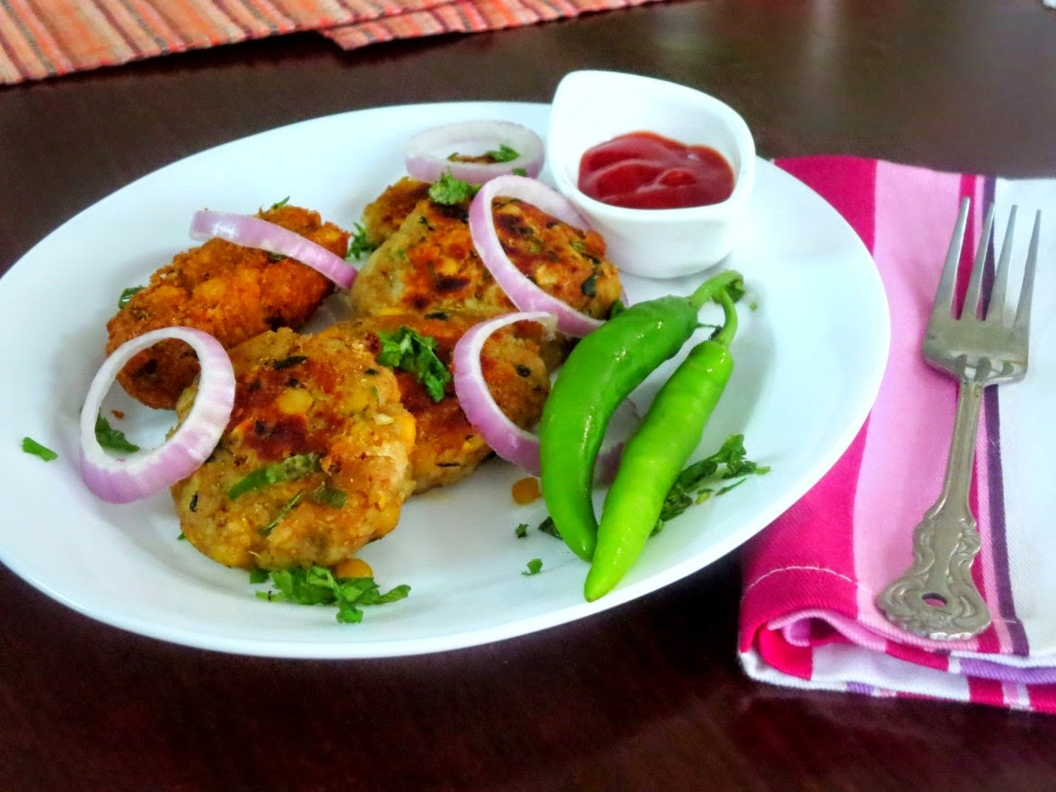 Aloo Channa Dal ki Tikki ~ Party Starters!