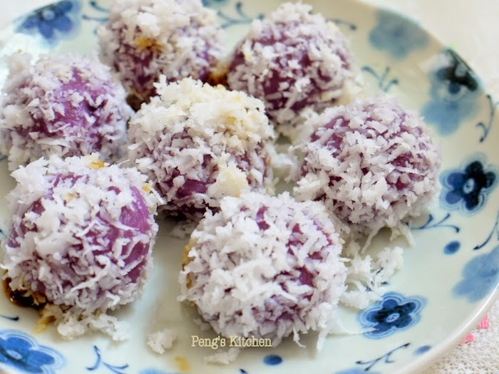 Purple Sweet Potato Ondeh Ondeh