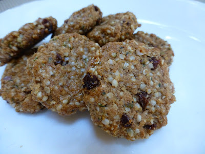 Hemp, Almond Butter and Raisin Cookies - A Healthy Vegan And Gluten Free Treat Packed With Omega-3 And Very Low In Sugar!