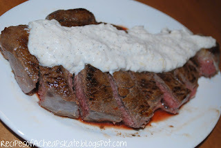 Steak and Parmesan-Peppercorn Sauce