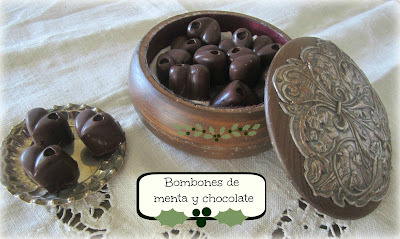 "Bombones de menta y chocolate tipo ""after eight"""