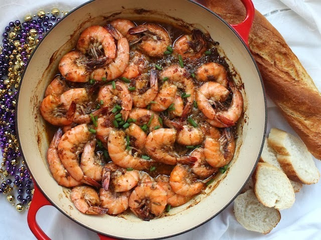 Louisiana Roasted Barbecue Shrimp for #SundaySupper