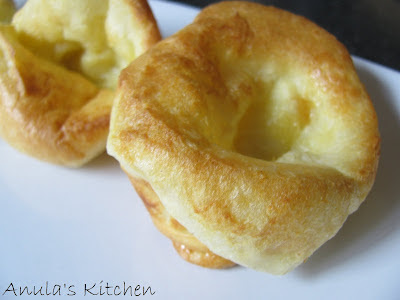 Yorkshire pudding - light as a feather and sooo delicious...