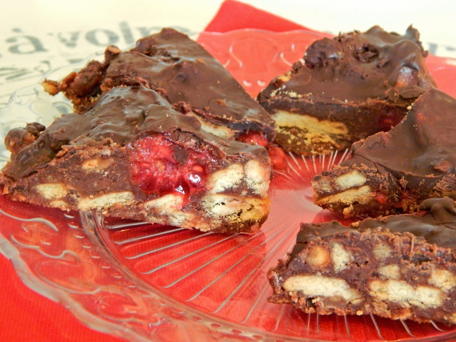 Raspberry Chocolate Tiffin