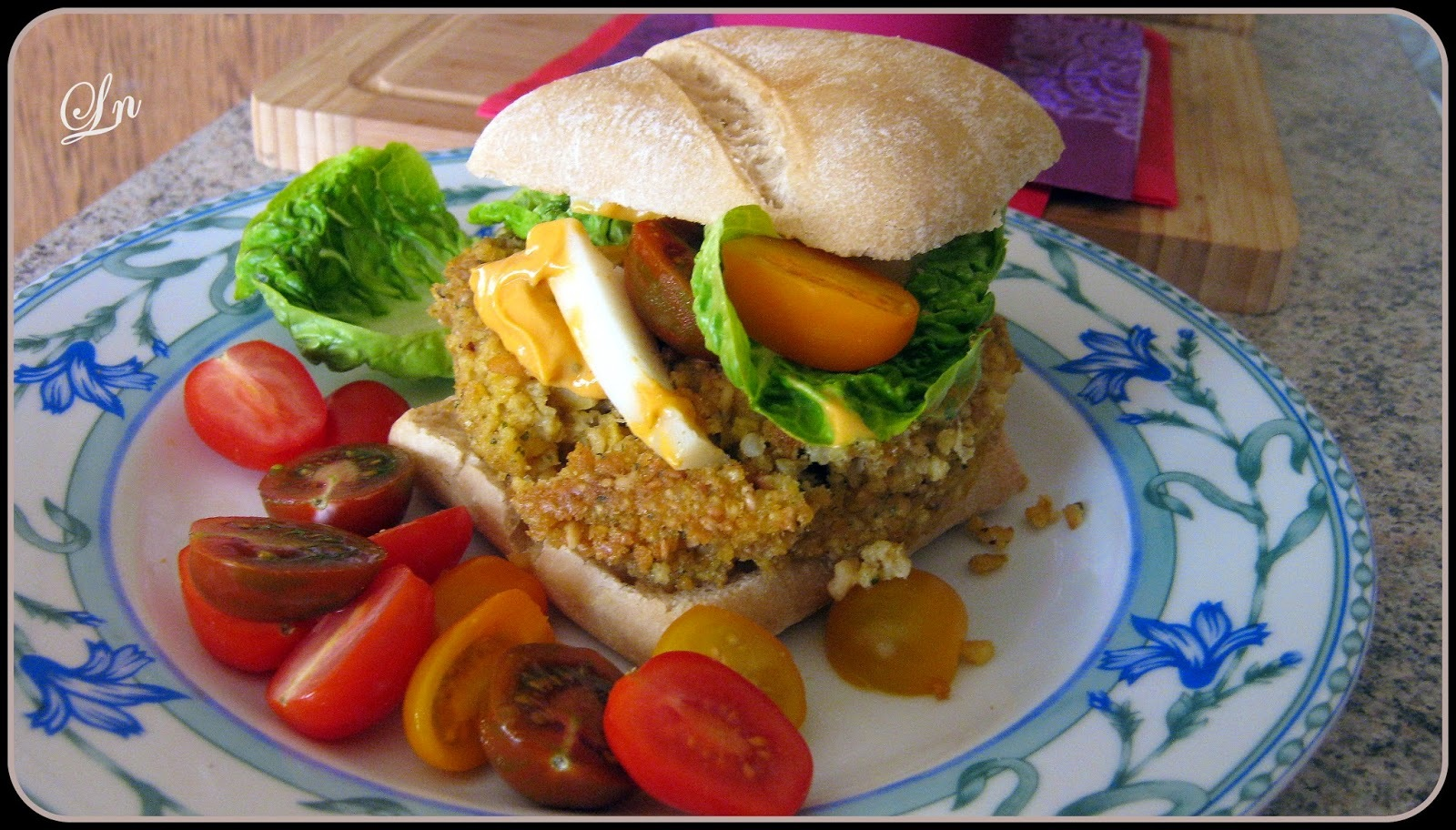 Battle Food#31 Petites graines pour grands gourmands : burgers de pois chiches et de millet