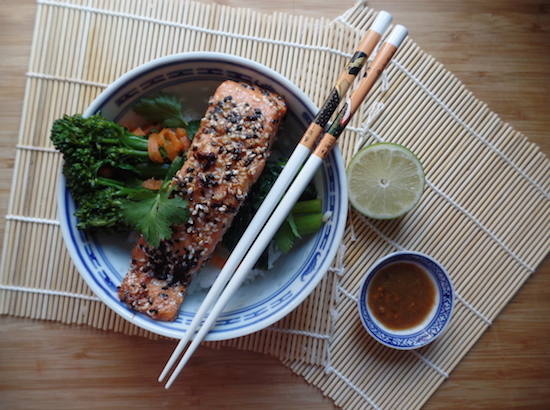switch the fish: sesame seared japanese loch trout.