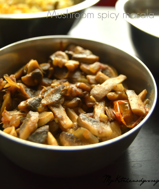how to make mushroom gravy for chapathi