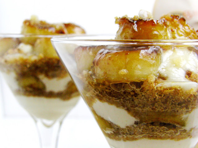 Caramelized Banana Bourbon Ricotta Trifle