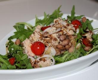 insalata di fagioli borlotti freschi