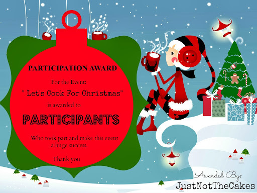 Awards for the event - Lets Cook for Christmas