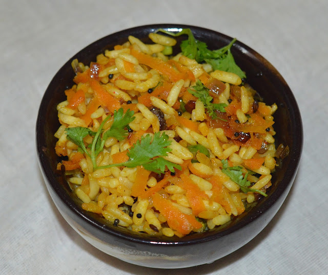 Puffed Rice Upma | Pori - Vegetable Upma | Snack Recipe