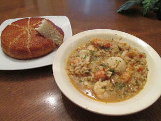 Seafood Gumbo and Cornbread